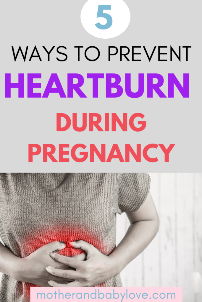 5 ways to prevent heartburn during pregnancy