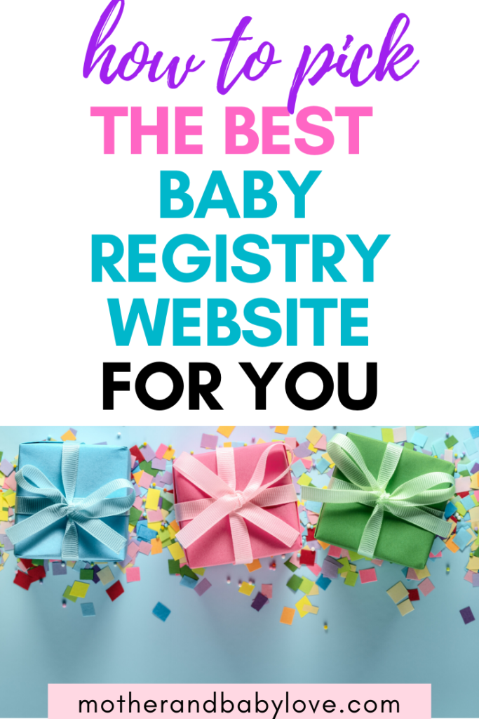 how to pick the best baby registry websites for you