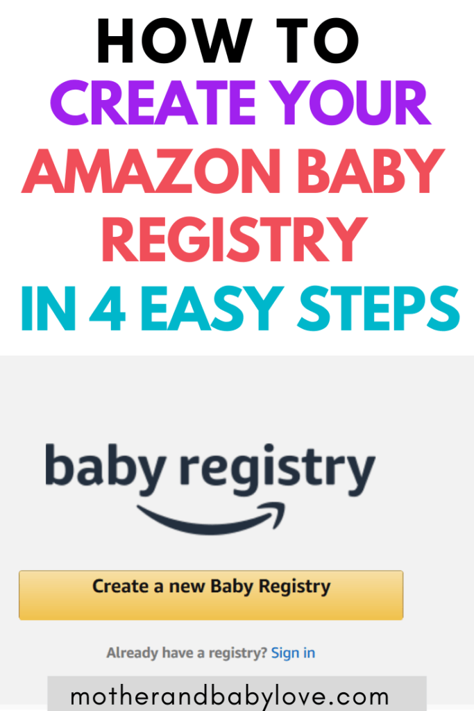 how to create a baby registry on amazon