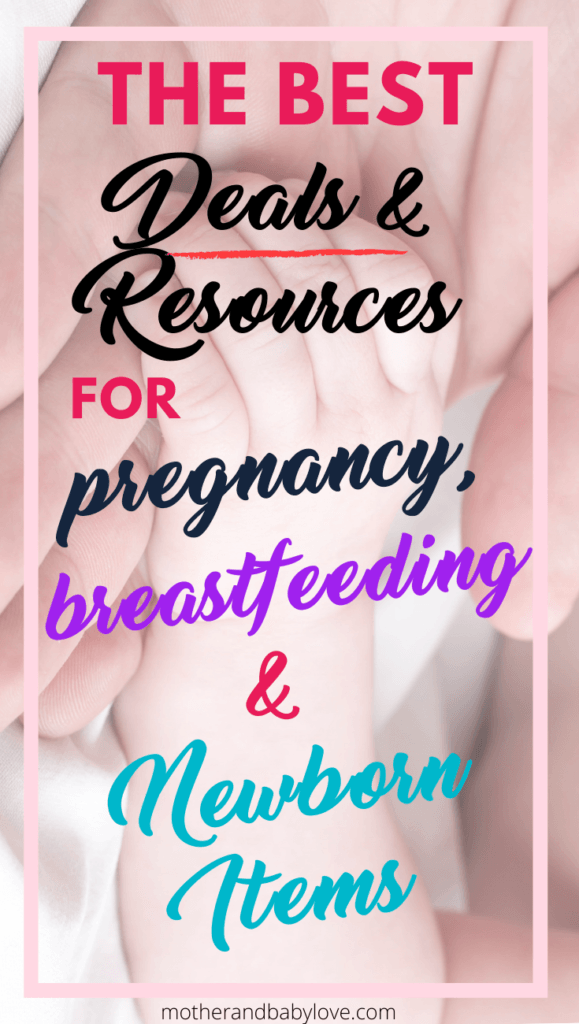 The best deals and resources for pregnancy, breastfeeding and newborn items.