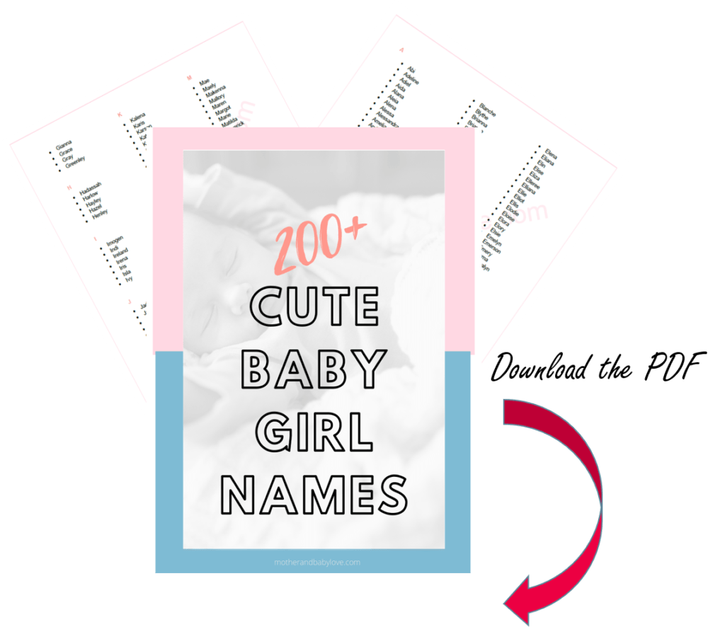 Over 200 cute baby names for girls - Mother and baby love