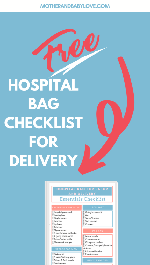 The ultimate hospital bag checklist for labor and delivery.