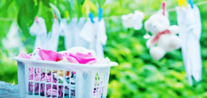 how to remove poop stains from baby's clothes
