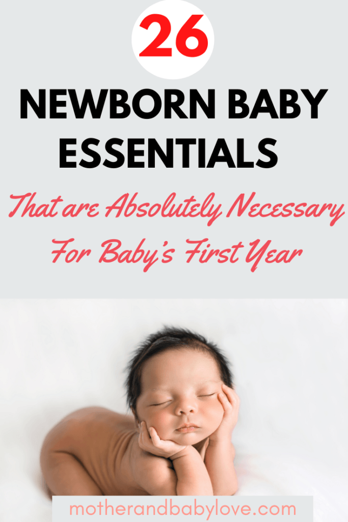 newborn baby essentials checklist printable- baby items that are absolutely necessary.