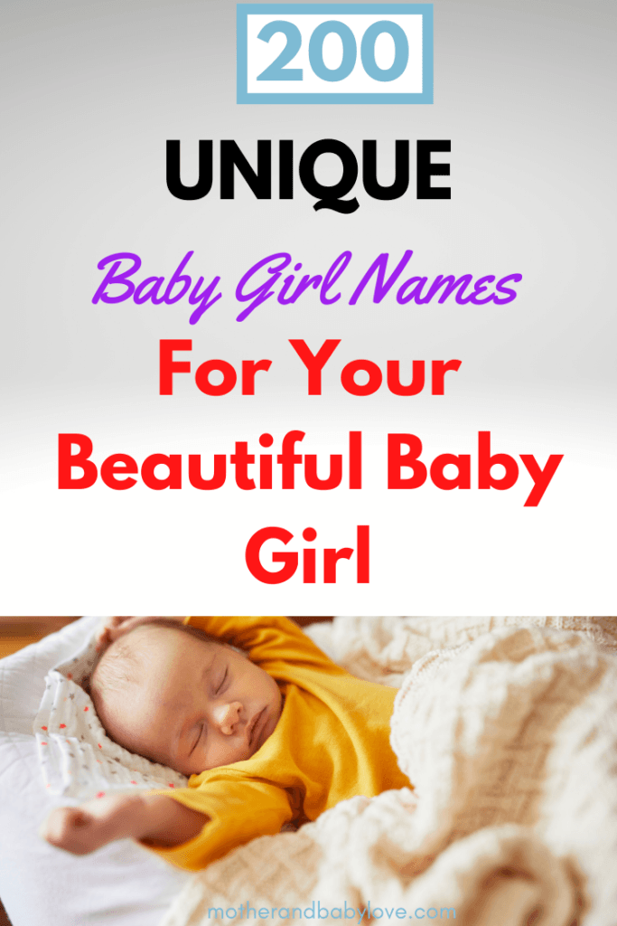 Over 200 unique baby girl names that aren't overused. From A to z the perfect names for your baby.