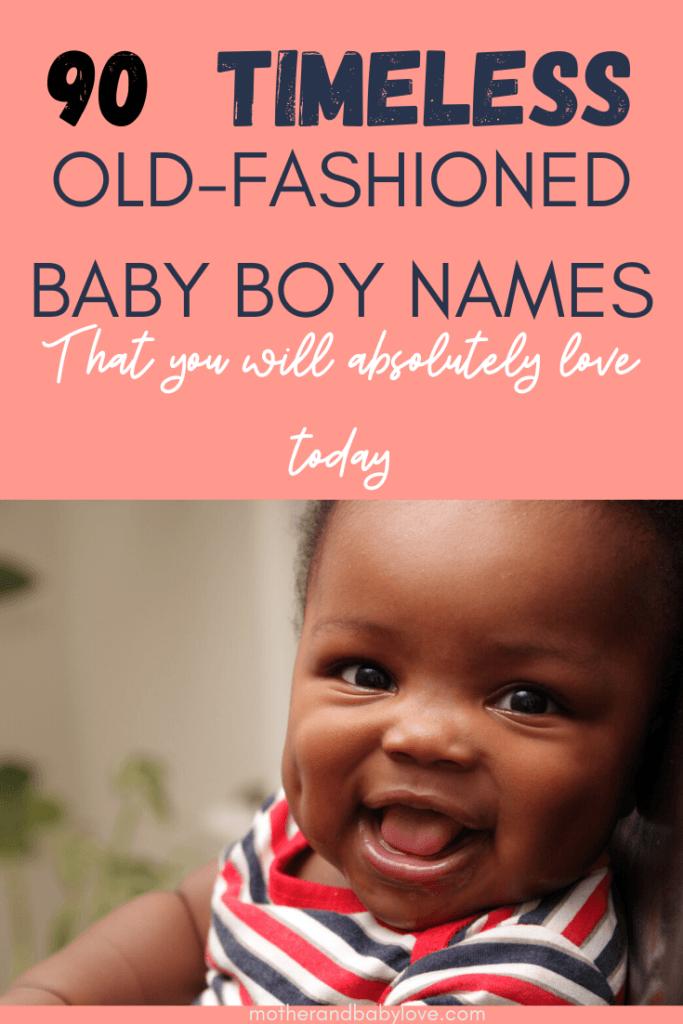 Timeless vintage baby boy names 2020