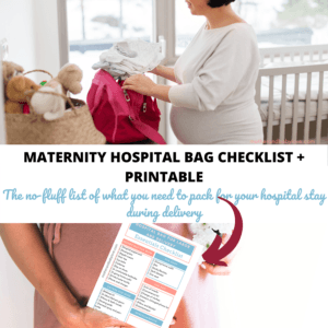 maternity hospital bag checklist