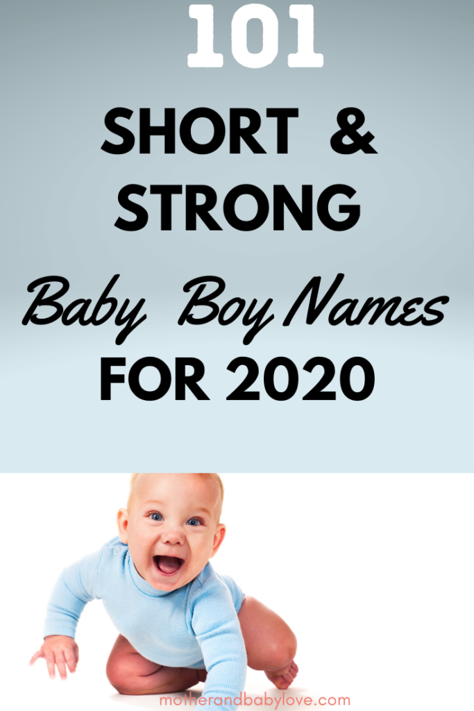 101 short and strong baby boy names for 2020 graphic