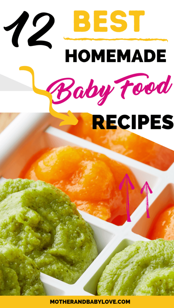 the best healthy homemade baby food recipe ideas graphic