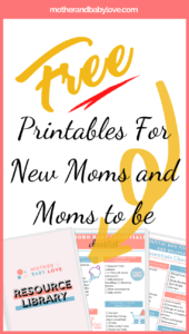 resource library printables for new moms and moms to be