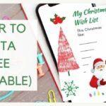 CHRISTMAS LETTER TO SANTA AND WISHLIST FREE PRINTABLE