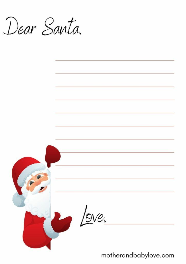Christmas wish list and blank Christmas letter to Santa free printables