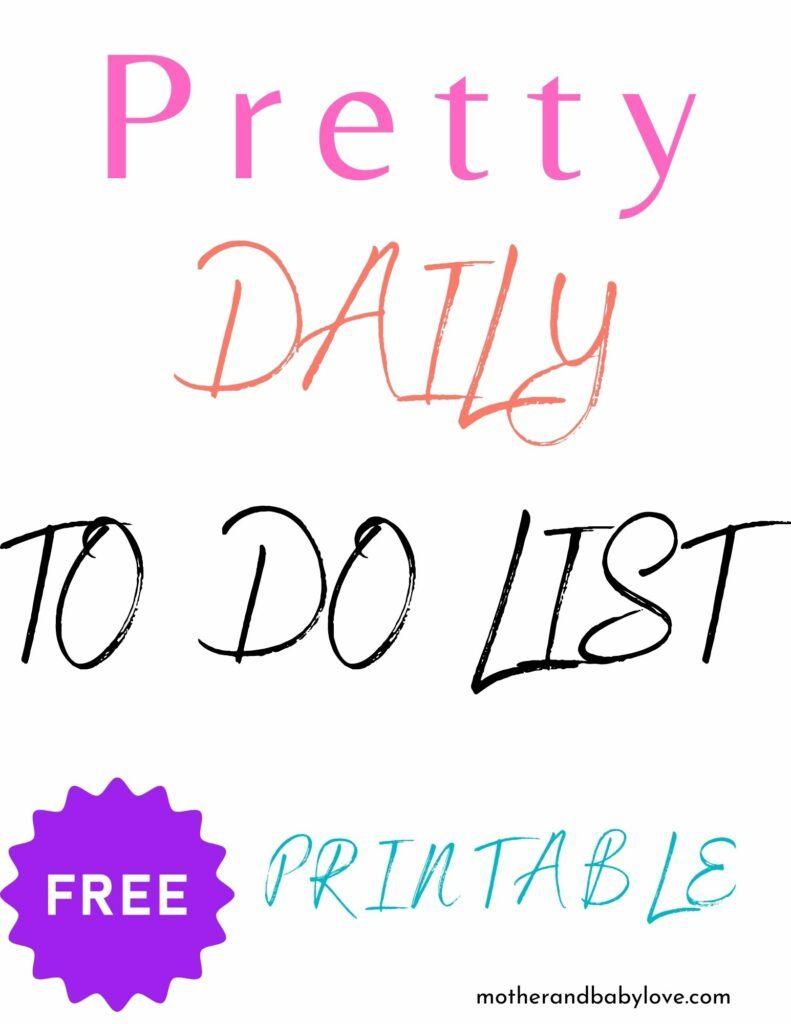 pretty pink to do list printable